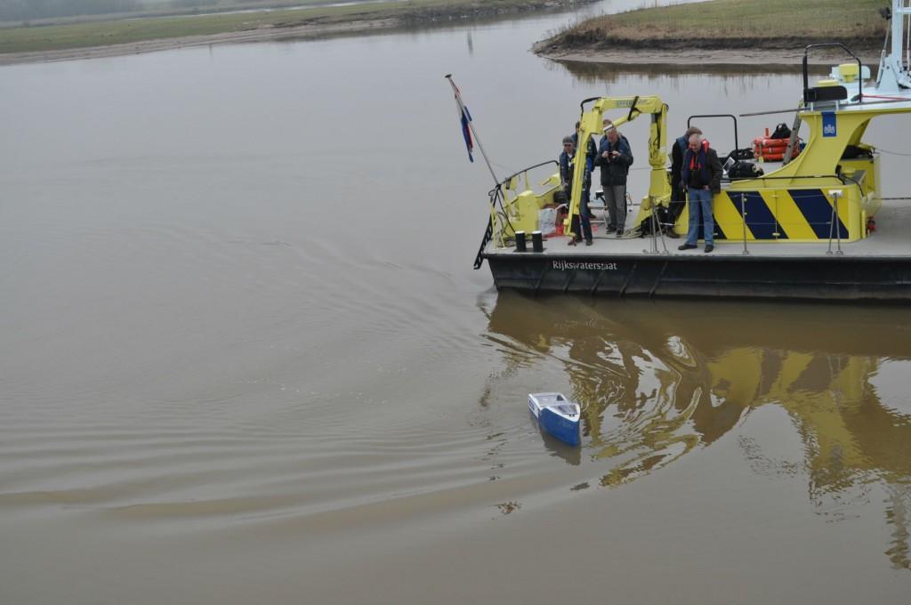 Eerste proefvaart Aquabot.
